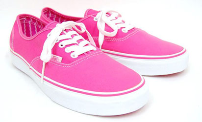 Pink Vans Authentic Shoes